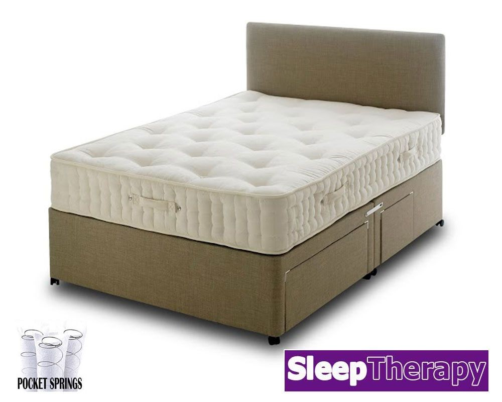 Natural Sleep Pocket 3000 Three Quarter Divan Bed