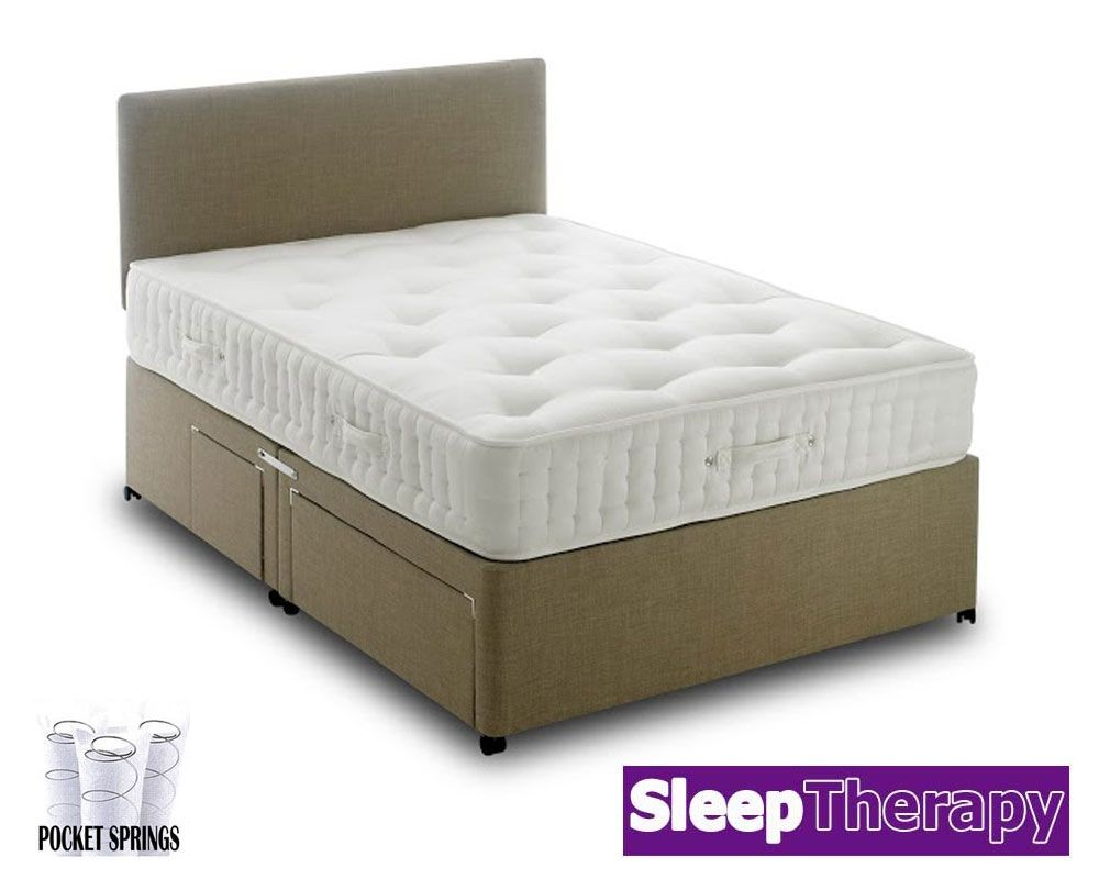 natural sleep pocket 4000 double divan bed. Black Bedroom Furniture Sets. Home Design Ideas