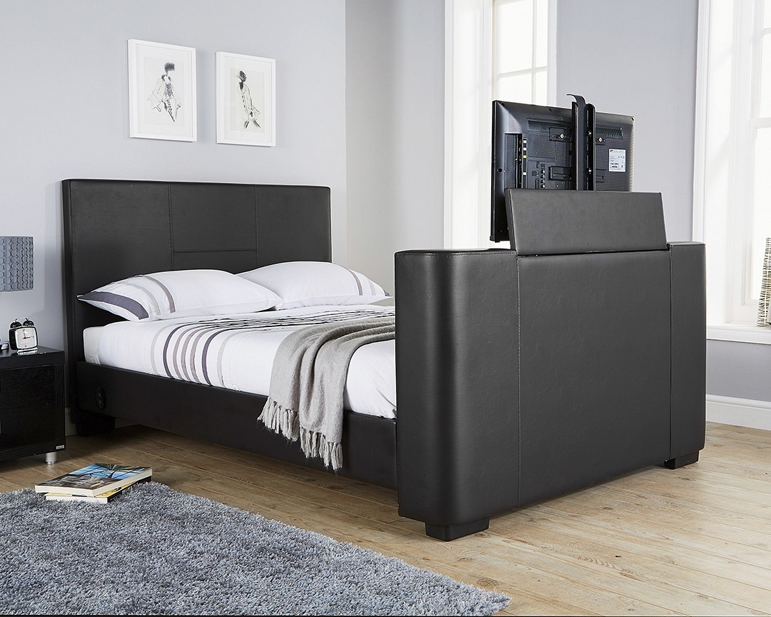 Nottingham Black Double TV Bed Frame