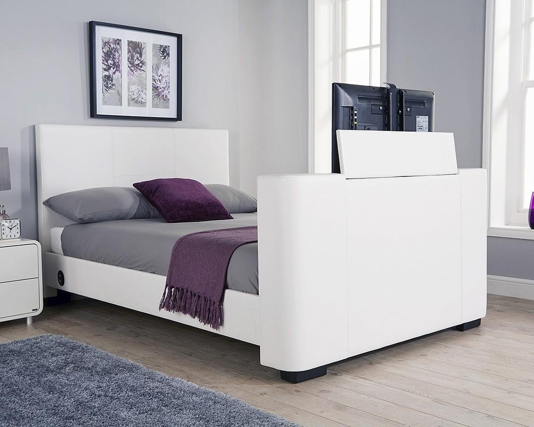 Nottingham White Double TV Bed Frame