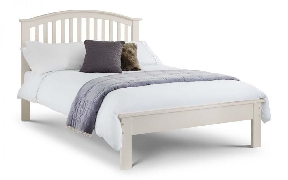 Owen Stone White Bed Frame