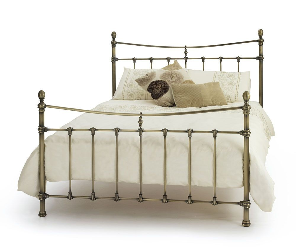 Olivia Antique Brass Double Bed Frame