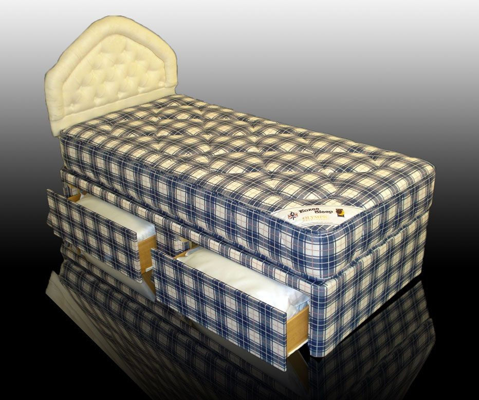 Olympic Small Single 2 Drawer Divan Bed