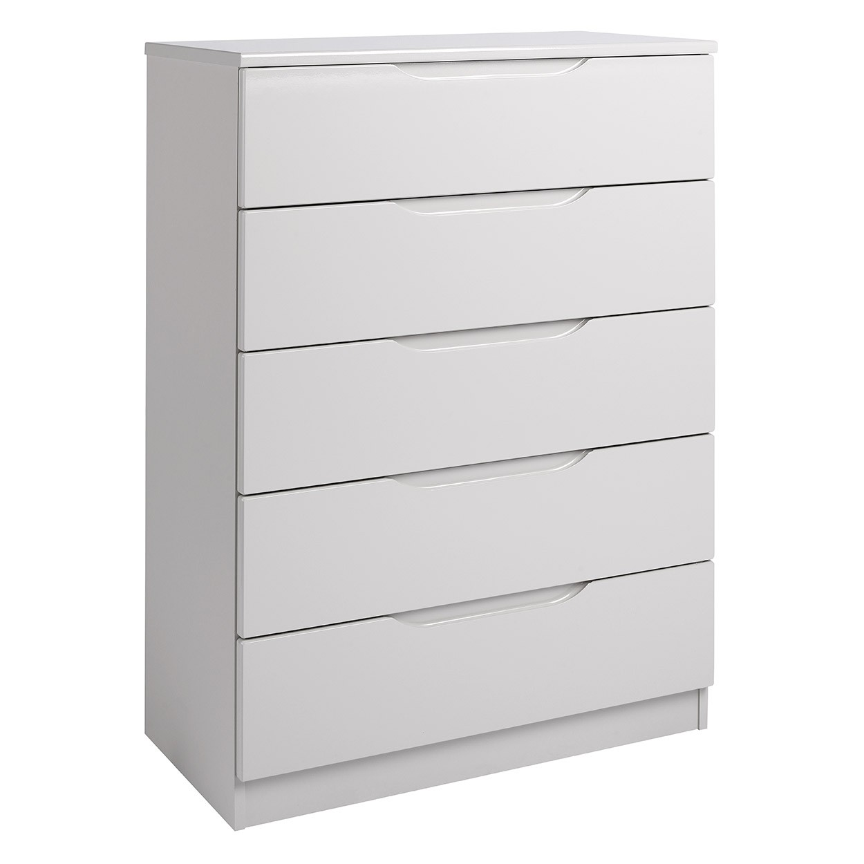 Cashmere Grey High Gloss 5 Drawer Chest