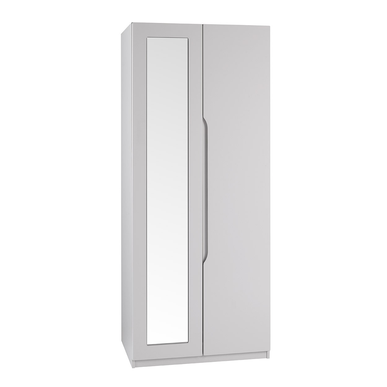 Cashmere Grey High Gloss Extra Tall 2 Door Wardrobe