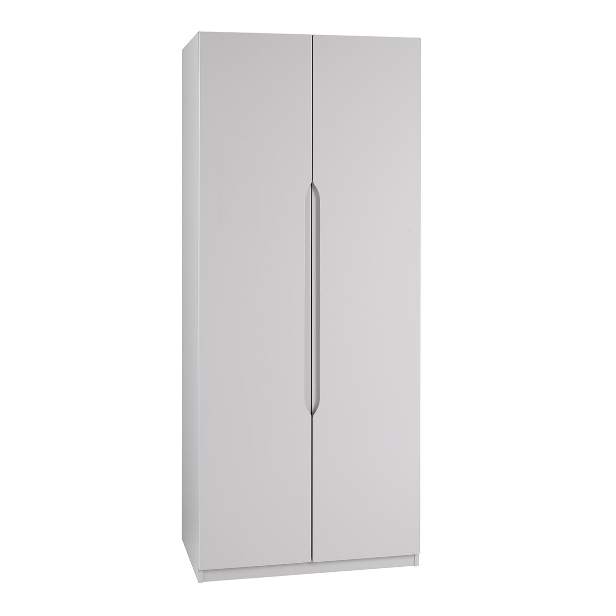 Cashmere Grey High Gloss 2 Door Extra Tall Wardrobe