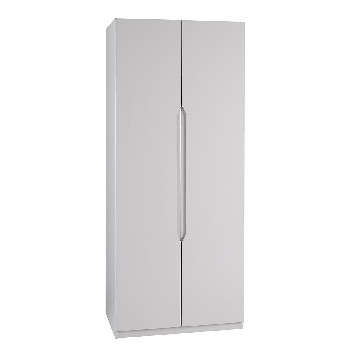 Cashmere Grey High Gloss 2 Door Wardrobe