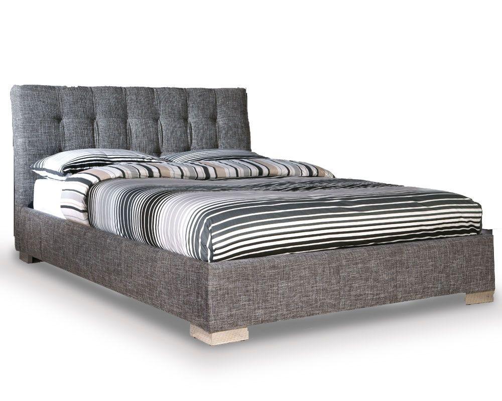 Ophelian Slate Waffle Kingsize Bed Frame