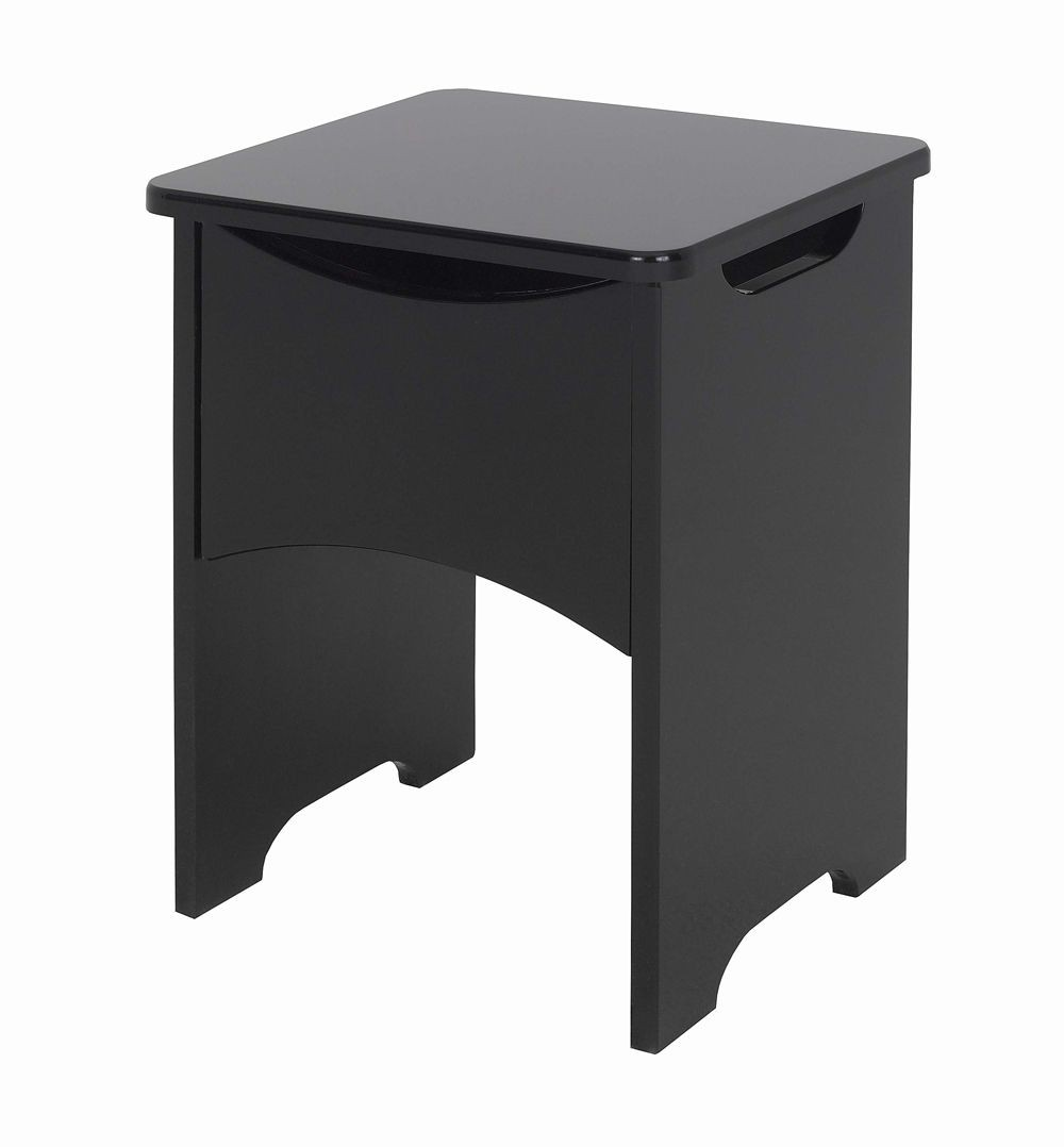 Orient Black Gloss Stool