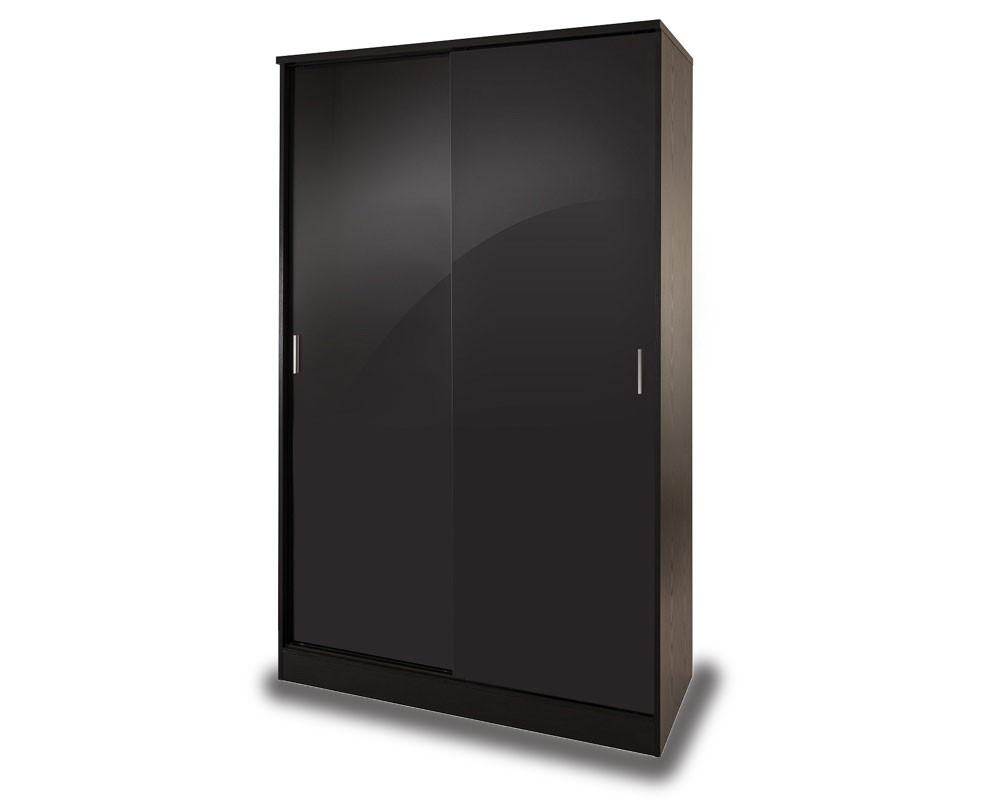 Otto Black High Gloss Sliding Door Robe