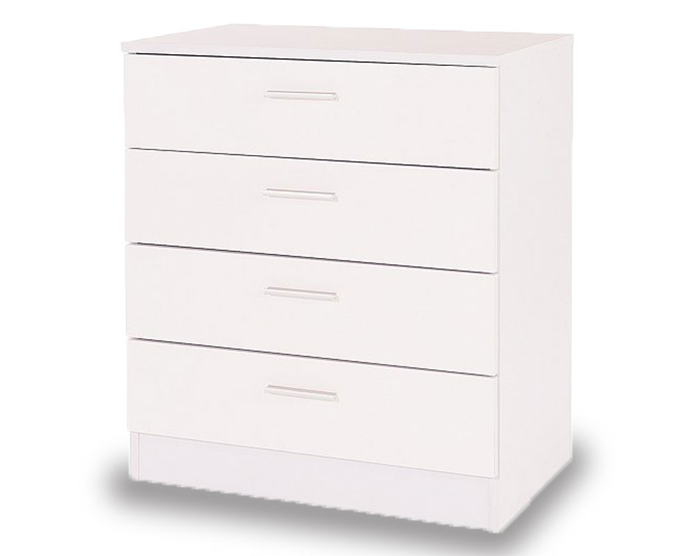 Otto White 4 Drawer Chest