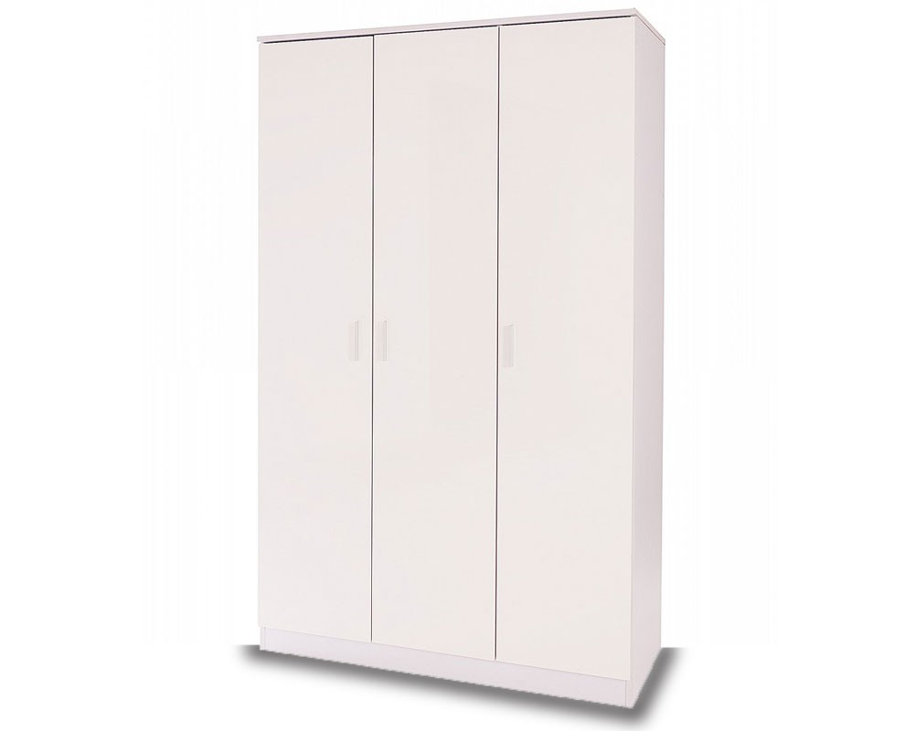 Otto White High Gloss 3 Door Robe