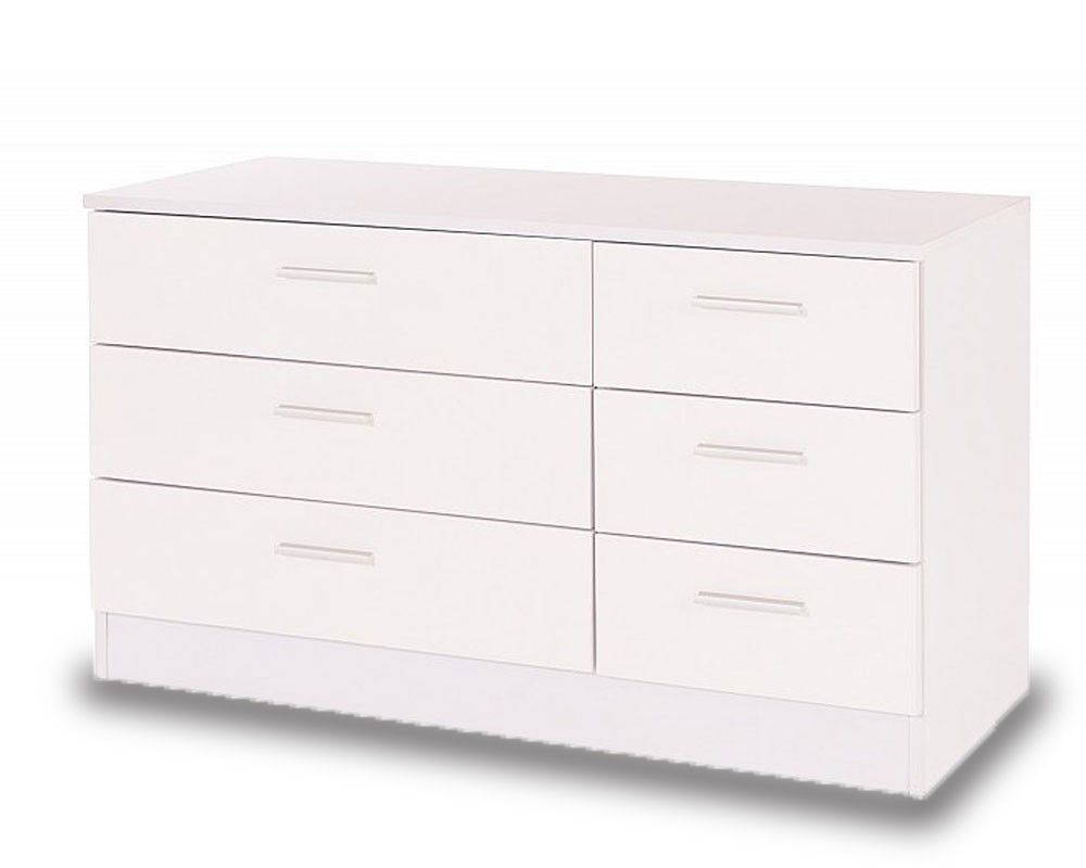 Otto White 6 Drawer Chest