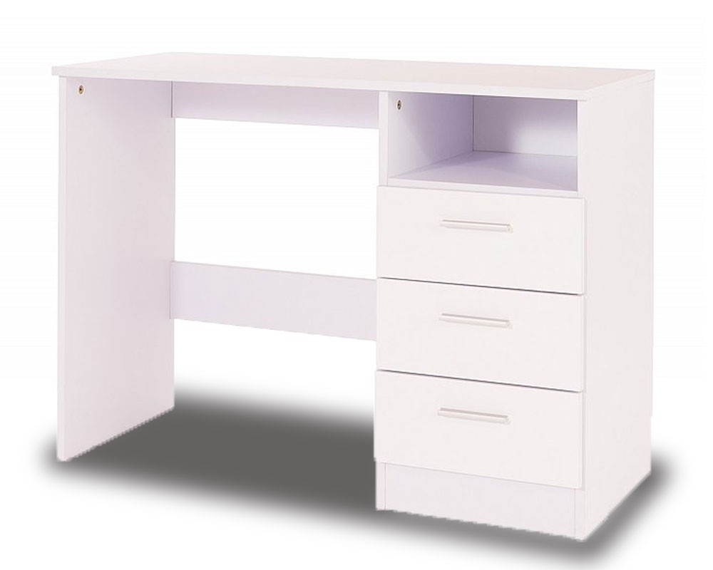 Otto White High Gloss Desk