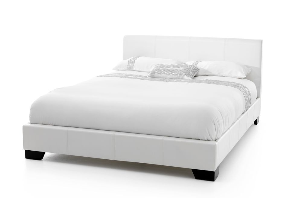 Palma White Super Kingsize Bed Frame