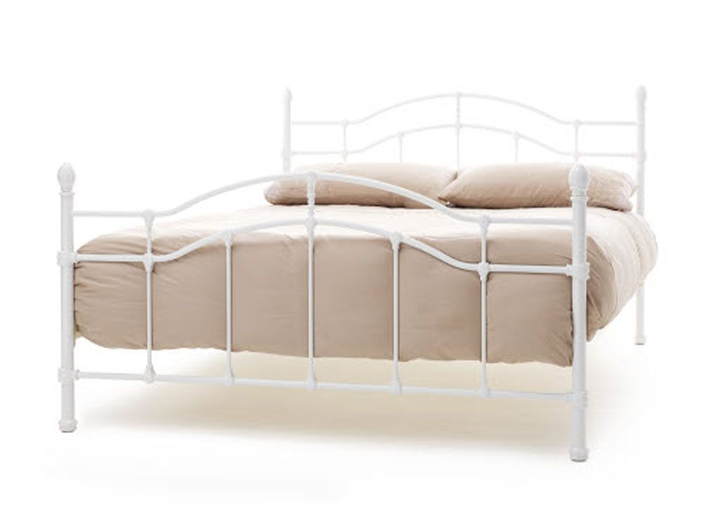 Parisienne White Double Bed Frame