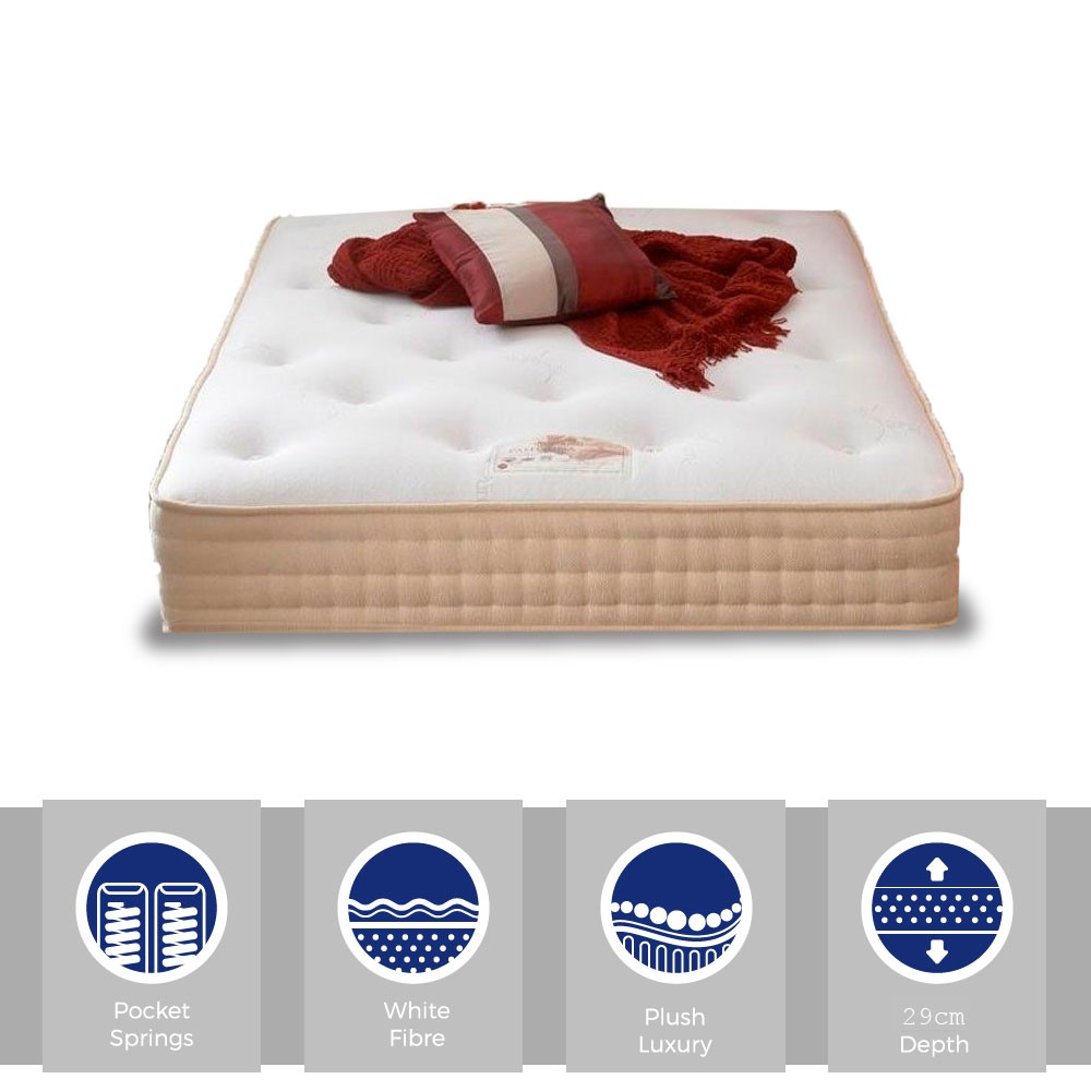 Pasha Pocket 1000 Three Quarter Mattress