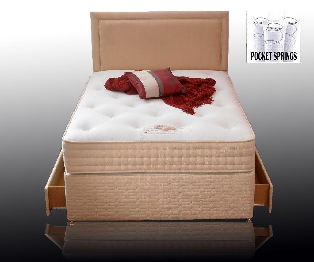 Cadiz Pocket 1000 Kingsize 4 Drawer Divan Bed