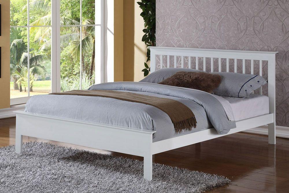 Petra White Super Kingsize Bed Frame