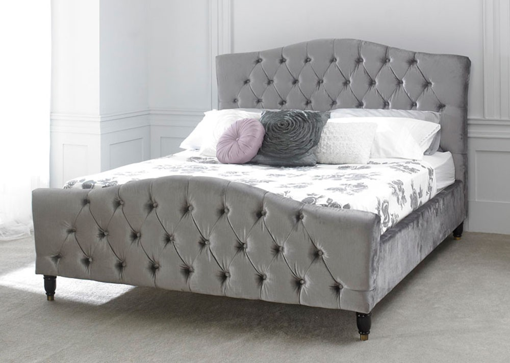 Phoebe Silver Bed Frame