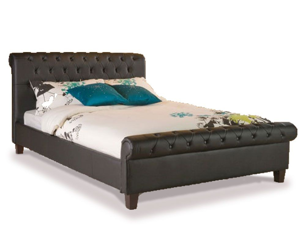 Phoenix Black Double Bed Frame