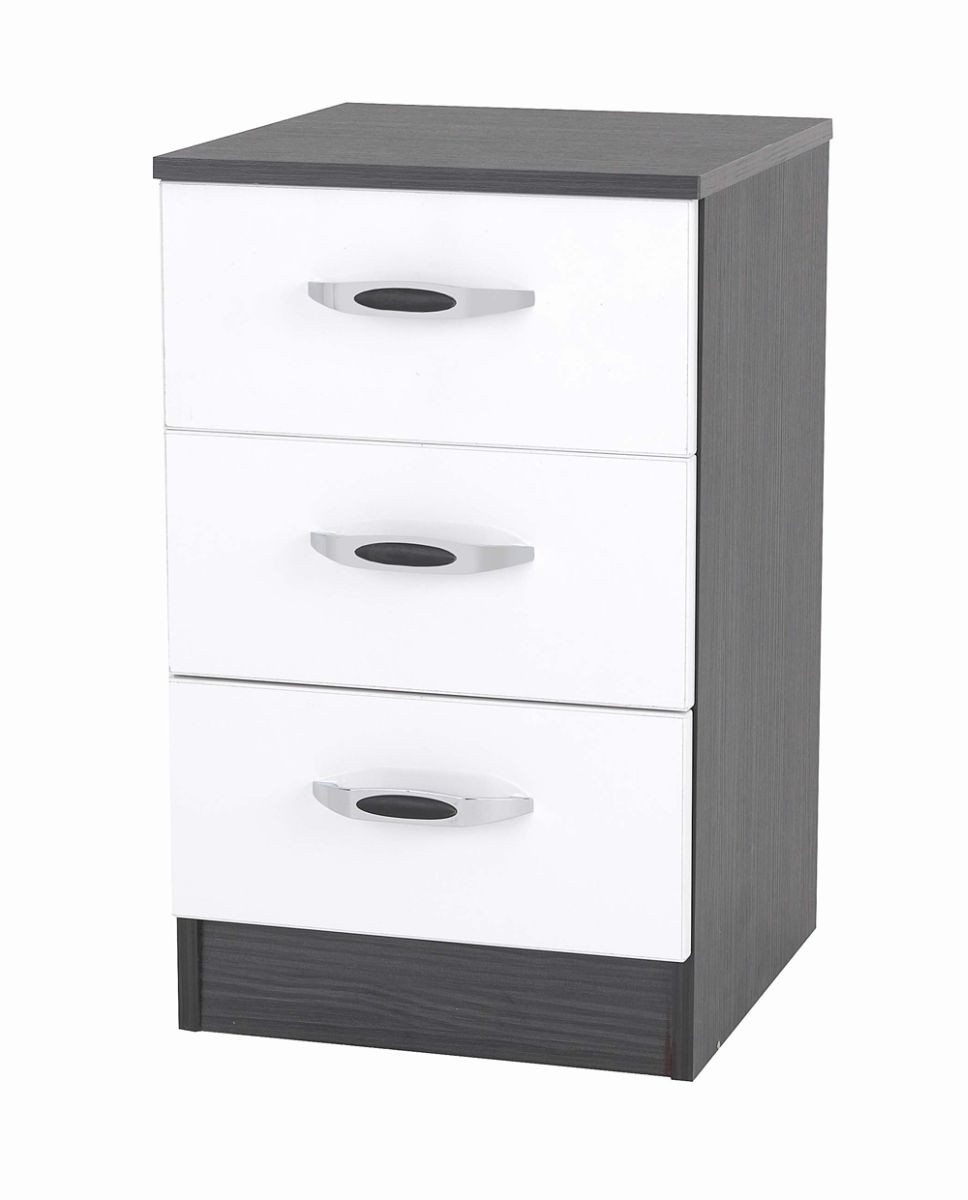 Piano Mode 3 Drawer Bedside