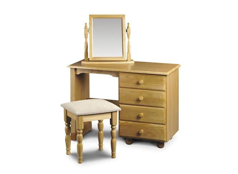 Pickwick Single Pedestal Dressing Table Stool & Mirror