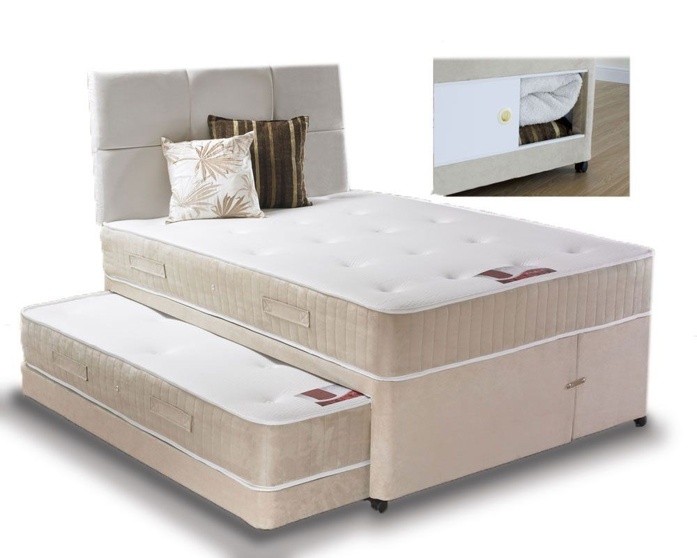 Quattro Visitor/Storage Double Divan Set