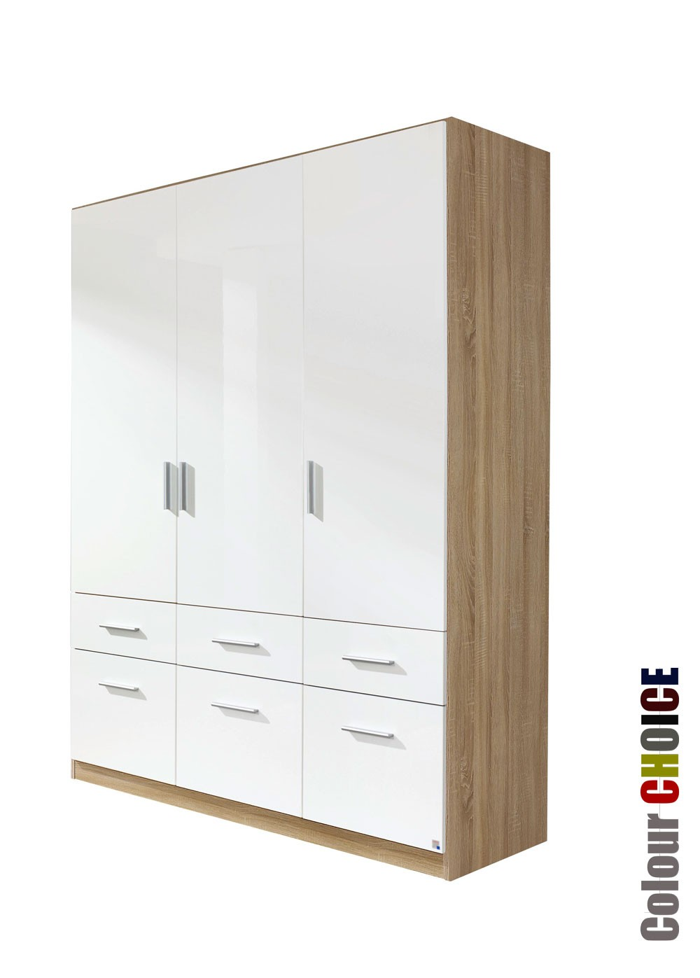 Rauch Cello 3 Door 6 Drawer Wardrobe