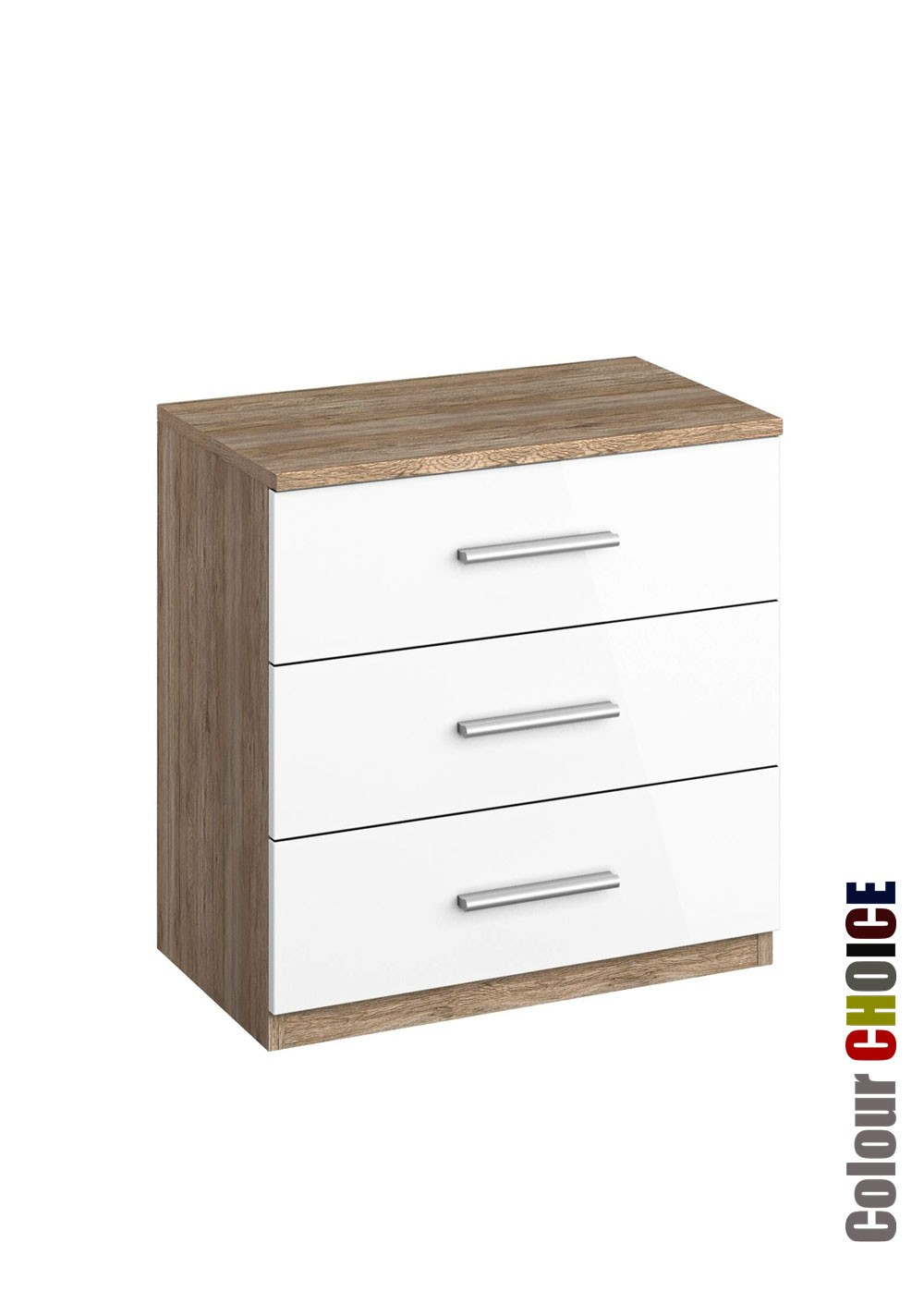 Rauch Cello 3 Drawer Bedside