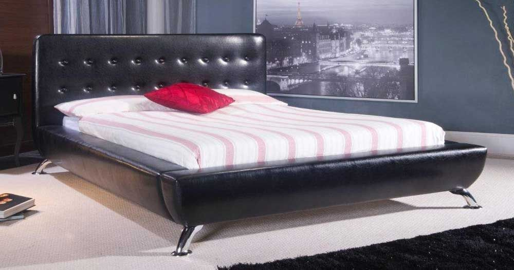 Retro Black Double Bed Frame