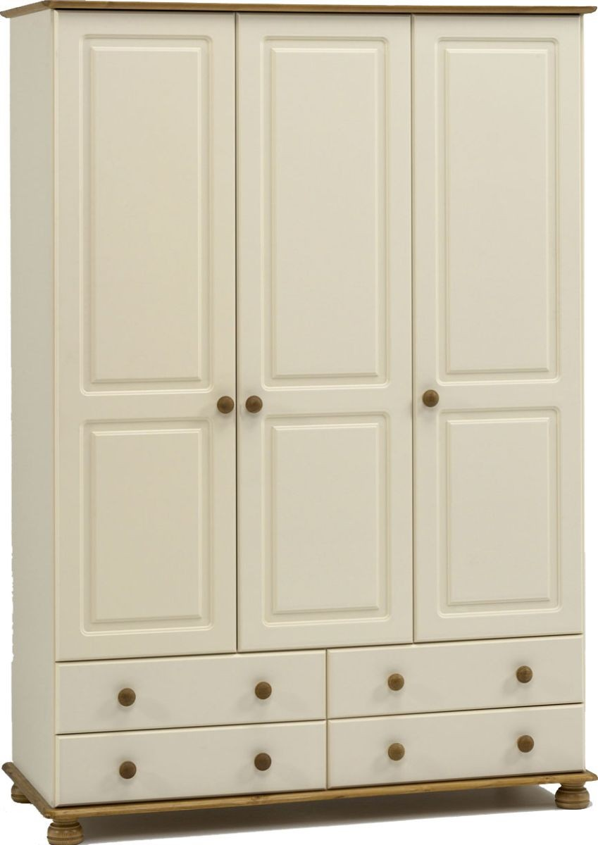 Richmond Cream 3 Door/4 Drawer Robe