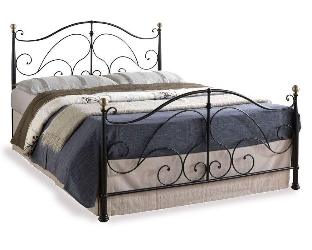 Romano Black Three Quarter Bed Frame