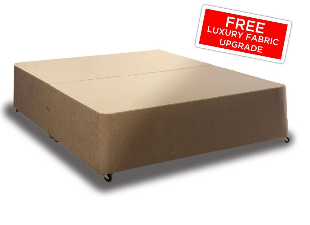 Value Double Divan Bed Base With Fabric Choice