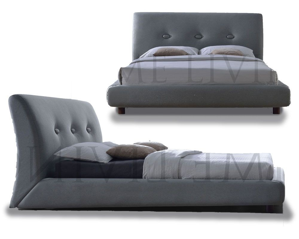 Sash Grey Contemporary Kingsize Bed Frame