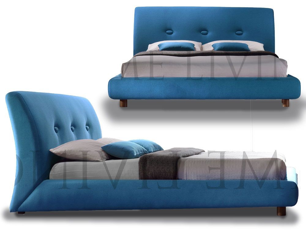 Sash Teal Contemporary Double Bed Frame