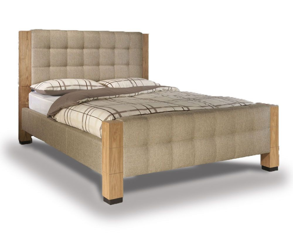 Saturn Oatmeal Double Bed Frame