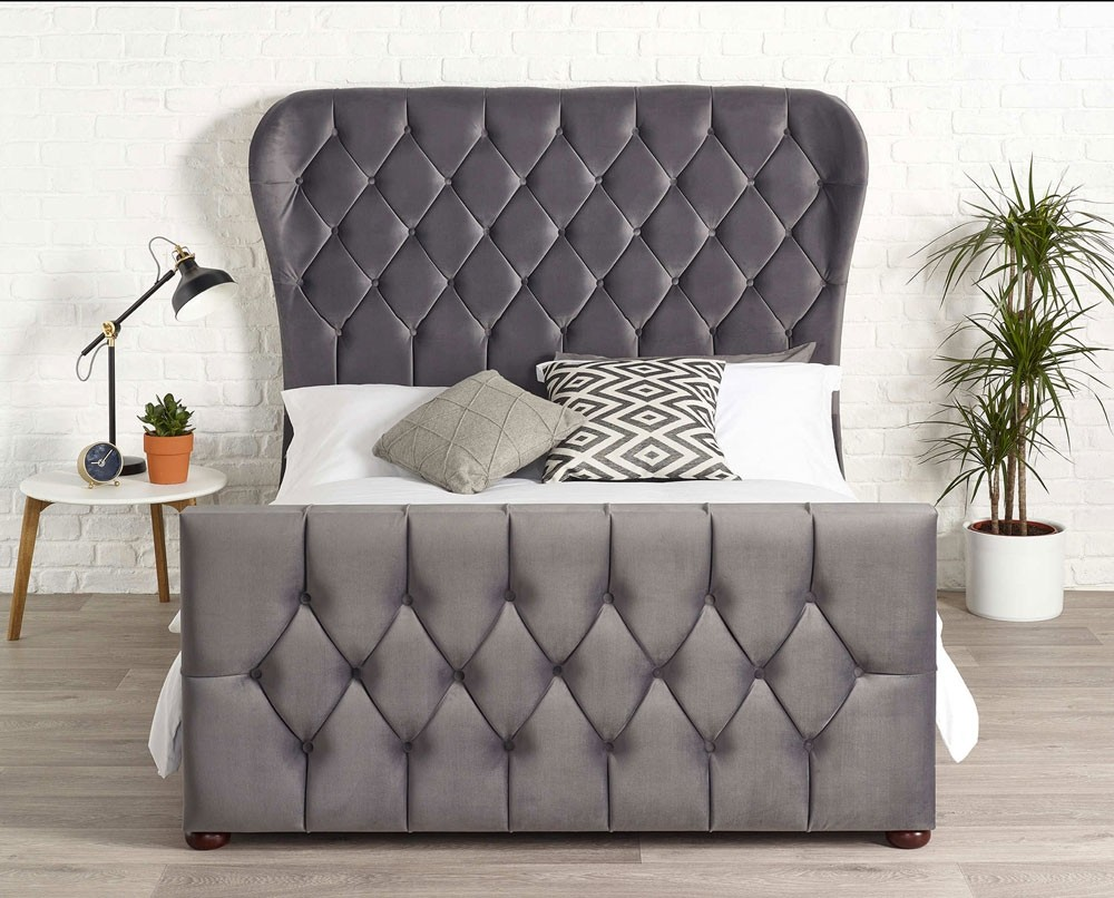 Jaden Steel Grey Bed Frame
