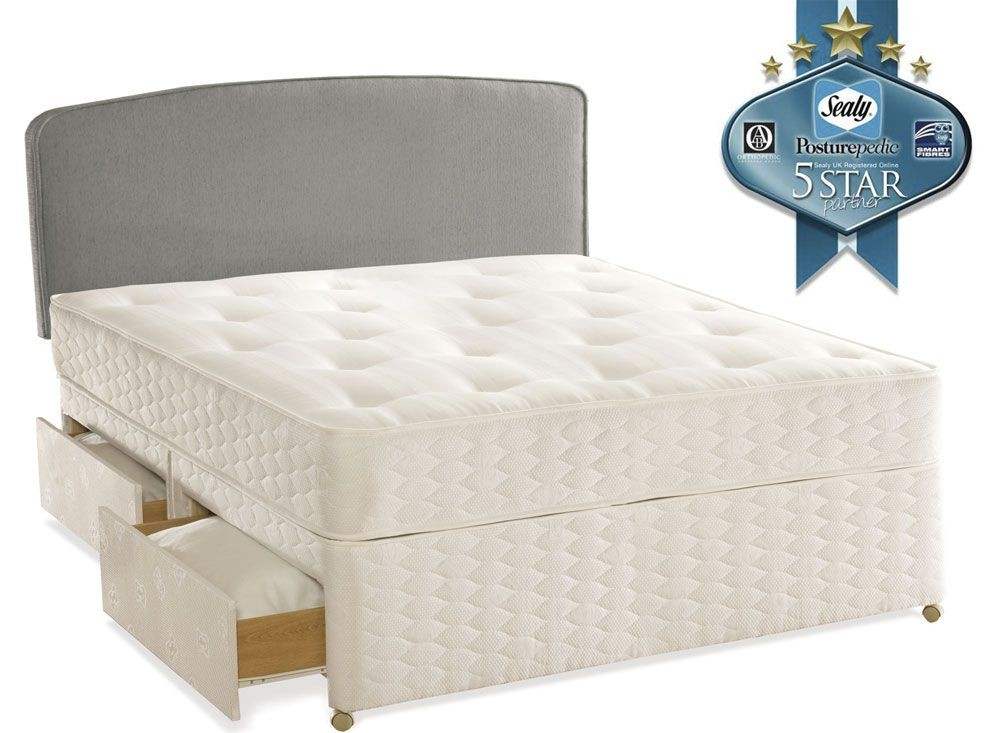 Sealy Essentials Firm Kingsize 4 Drawer Divan Bed