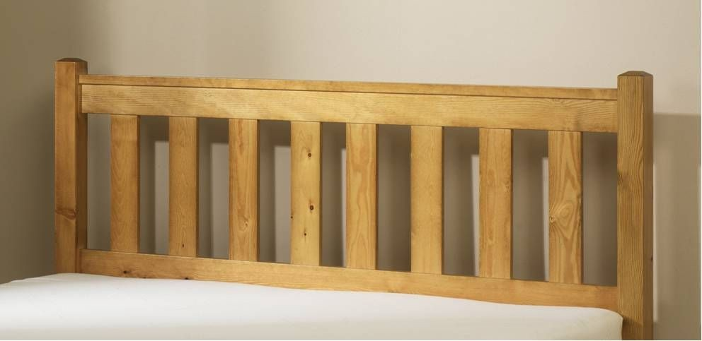 Shaker Pine Three Quarter Headboard