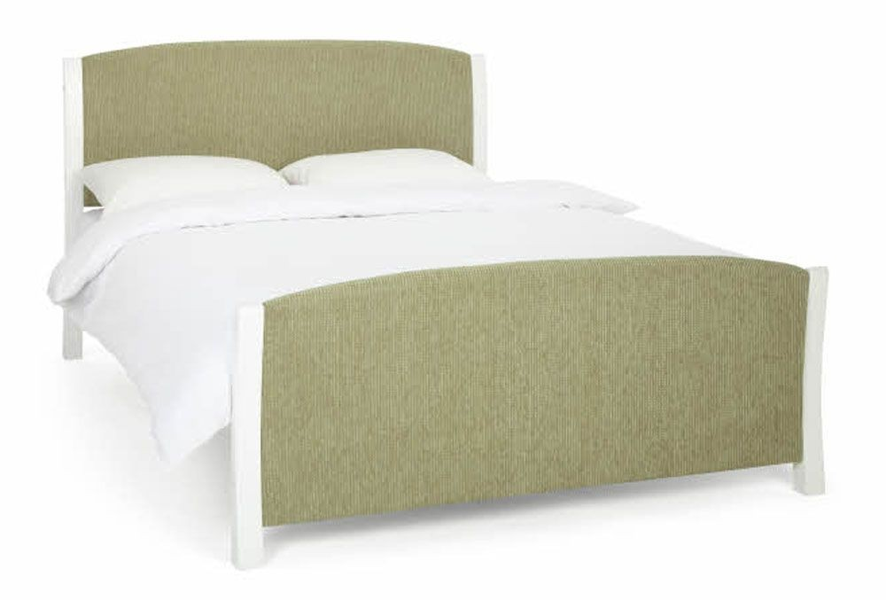 Shell Mint And White Double Bed Frame