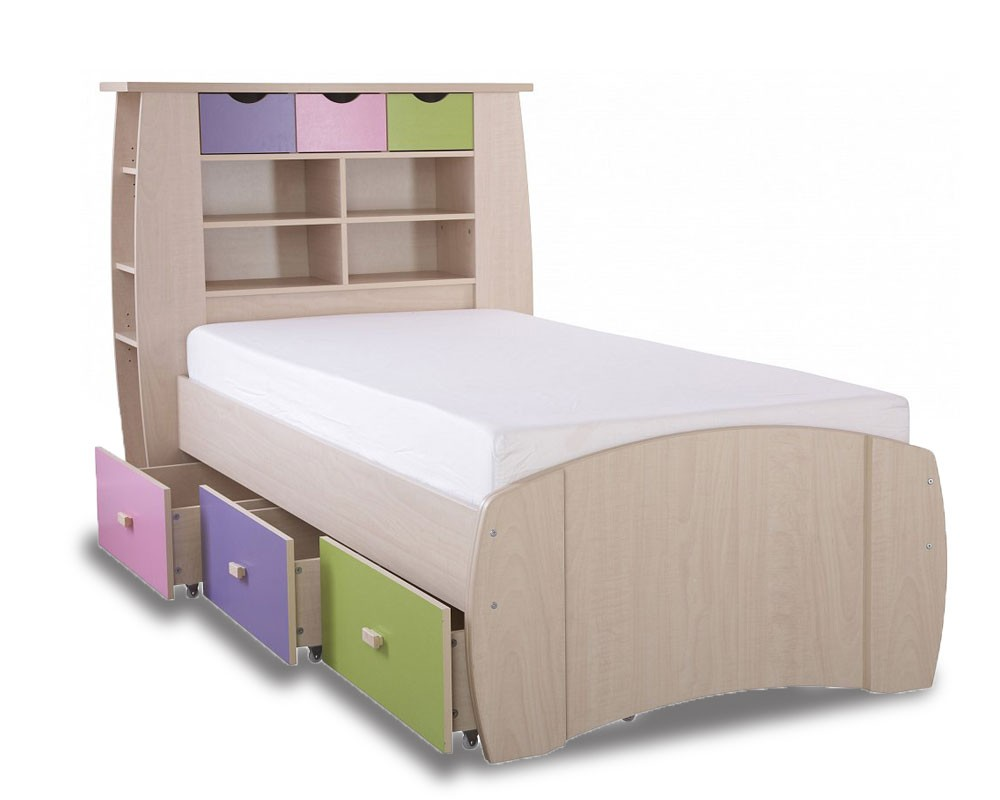 Sid Pastel Storage Bed Frame