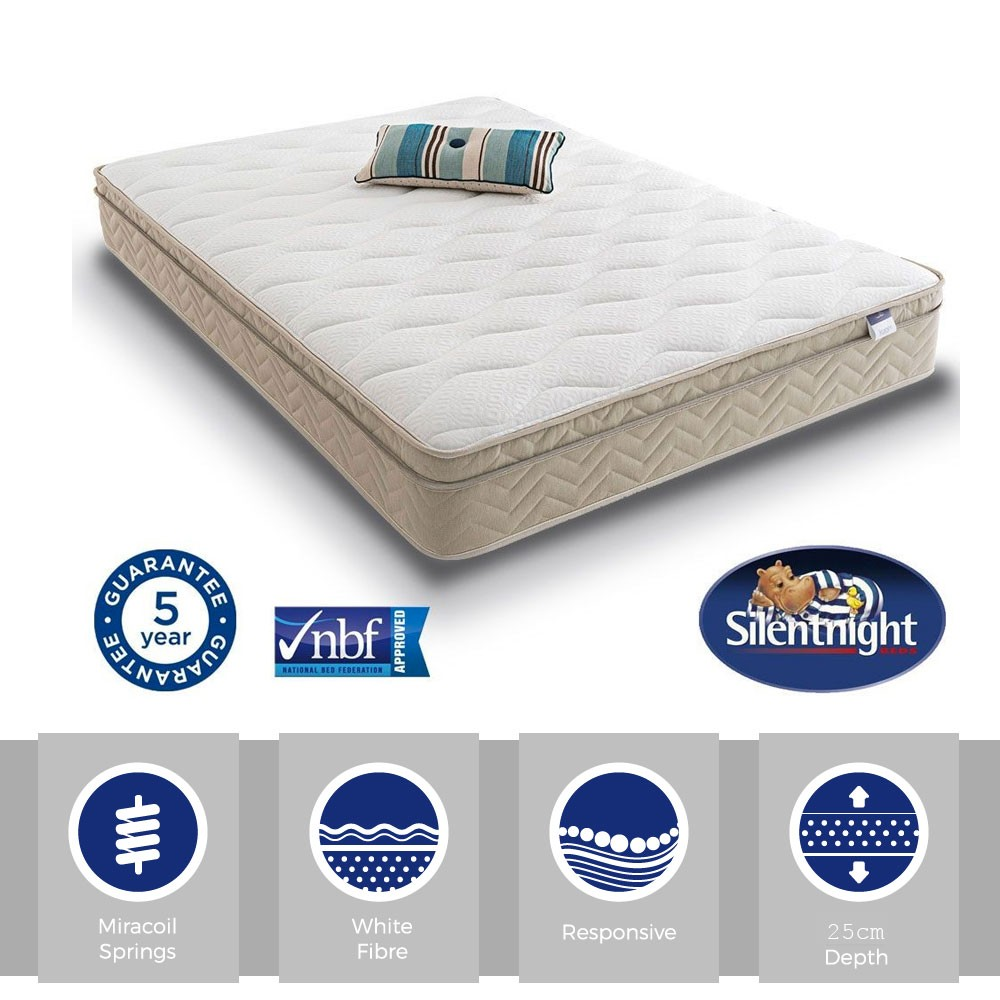 Silentnight Select Cushion Top Three Quarter Mattress