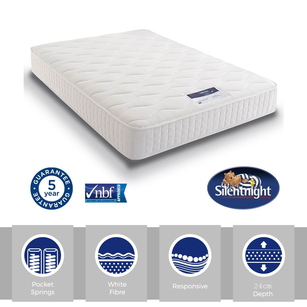 Silentnight Essentials Pocket 1000 Super Kingsize Mattress
