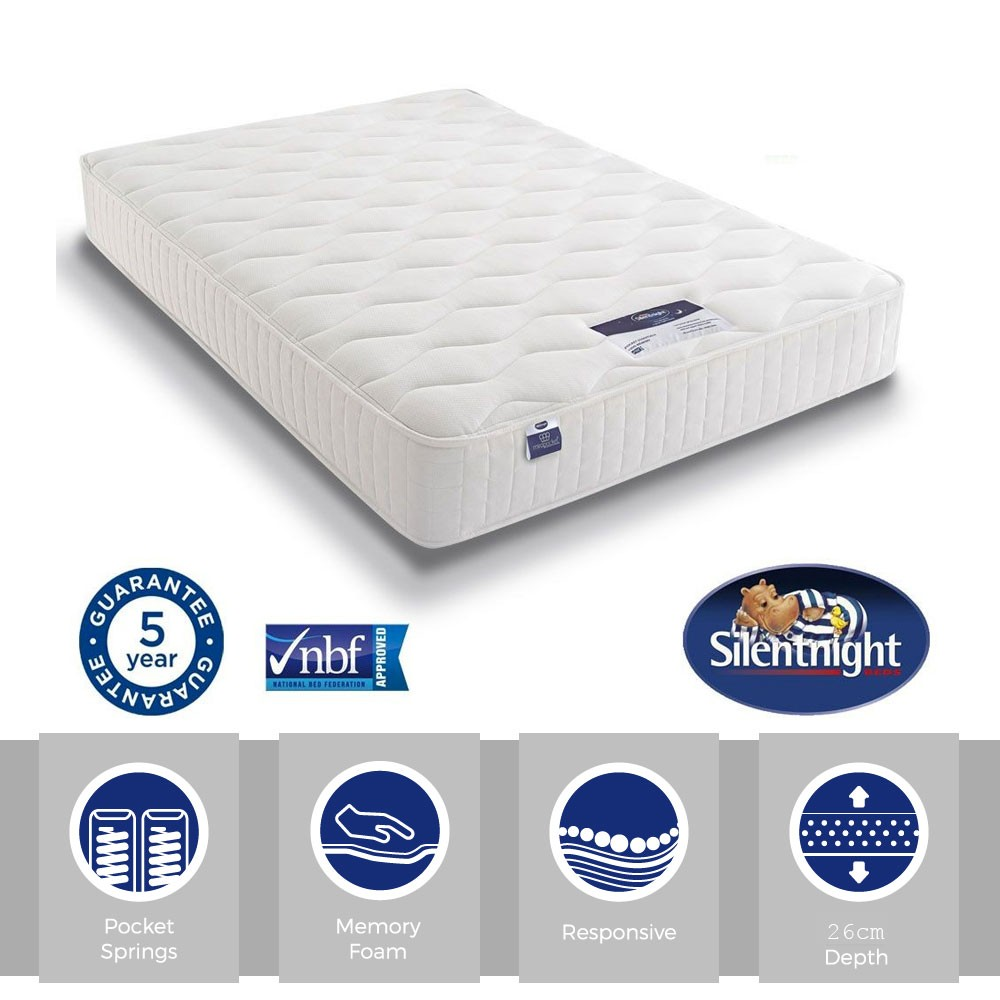 Silentnight Essentials Pocket 1000 Memory Super Kingsize Mattres