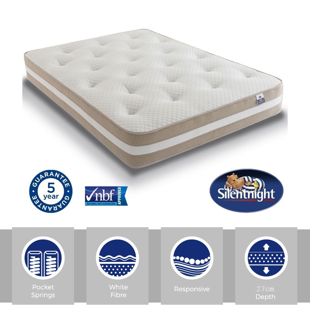 Silentnight Select 1000 Pocket Three Quarter Mattress