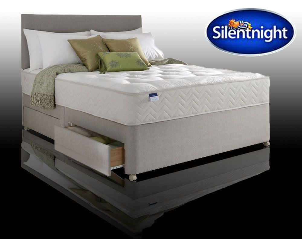 Silentnight select ortho double 4 drawer divan bed for Double divan bed with four drawers