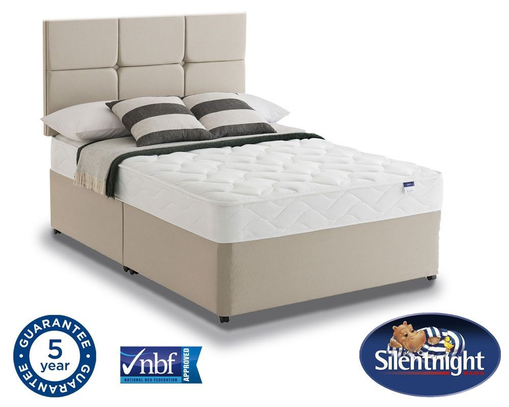 Silentnight Essentials Easycare Double NS Divan Bed