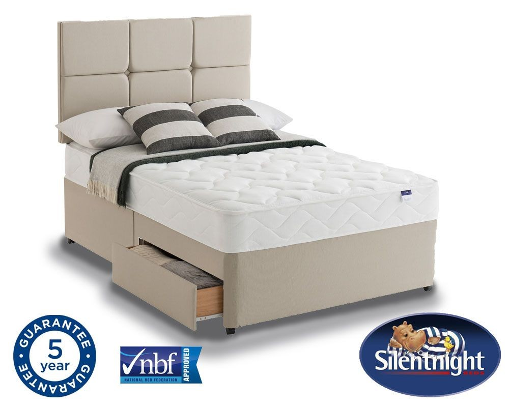 Silentnight Essentials Easycare Super Kingsize 2 Drawer Divan Be