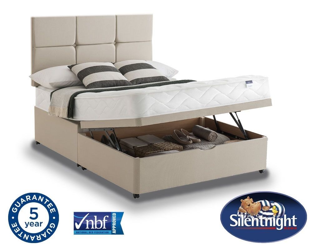 Silentnight Essentials Easycare Super Kingsize Ottoman Divan Be